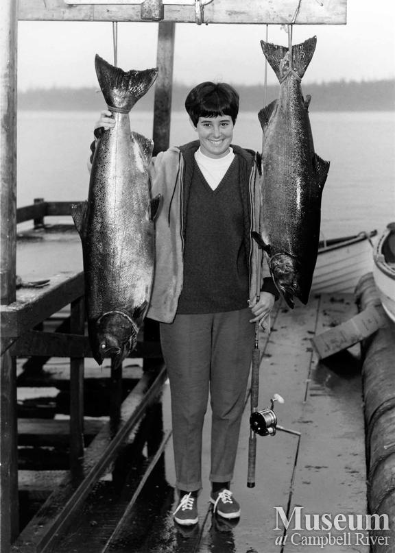 Judy Walker with her catch