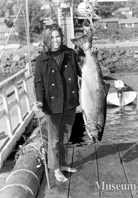 Mrs. Evans with her catch