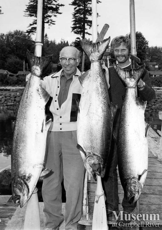Mr. Bonnor with his catch of three fish