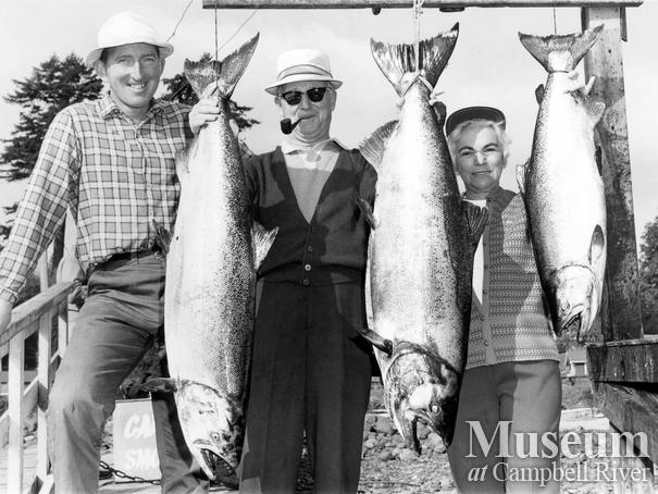 Mr. and Mrs. Ross Cunningham with their catch