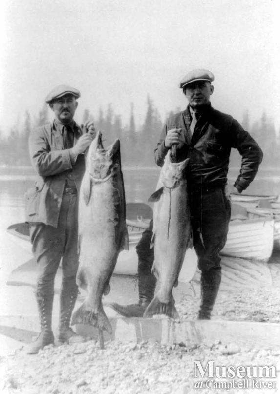 Elvon Musik with his catch