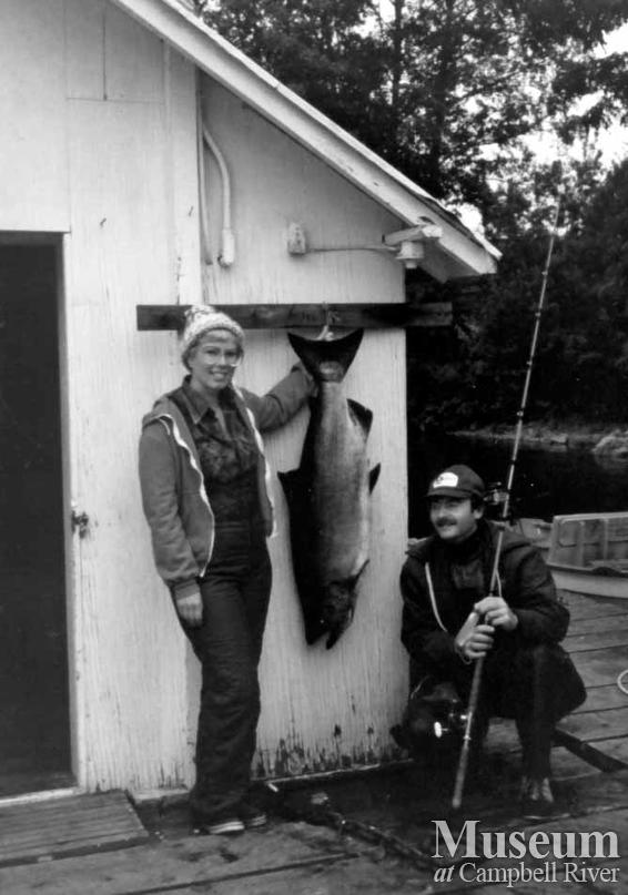 Penny Milbrandt with her catch