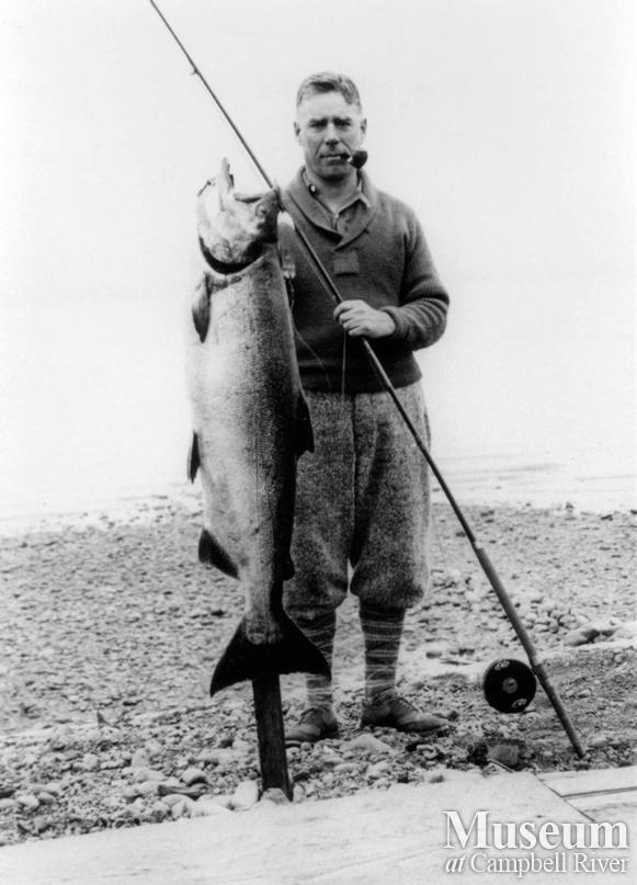 A.N. Wolverton with fish