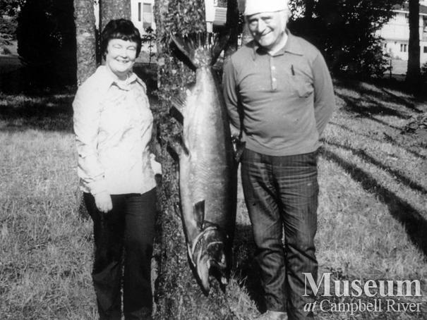 Mary and Richard Murphy with their catch