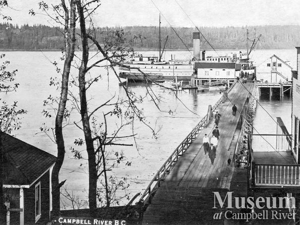 View of the wharf, Campbell River
