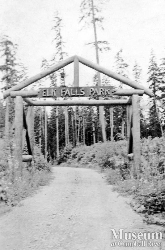 Entrance to Elk Falls Park
