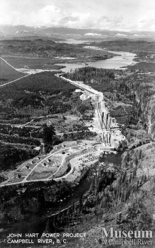 View of the John Hart Power Project, Campbell River
