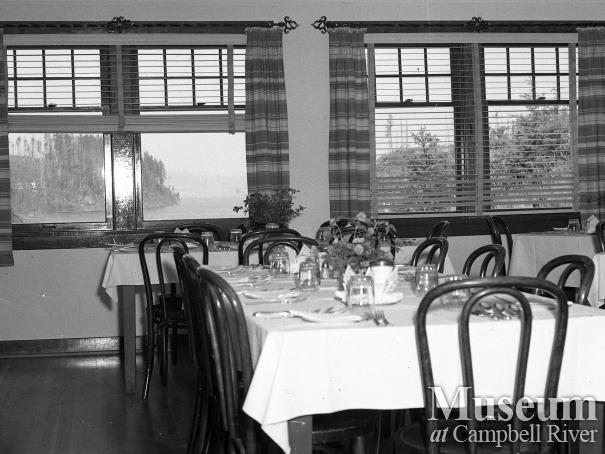 Interior view of the Dining Room, Forbes Landing Lodge