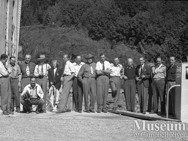 Tour group at John Hart Generating Station