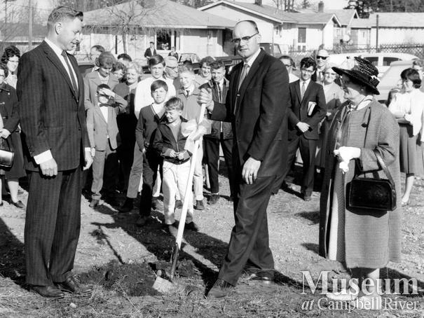 Ground breaking ceremony for new Four Square Church, Campbell River