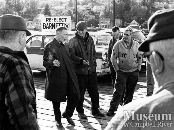 MP Tom Barnett campaigning in Campbell River