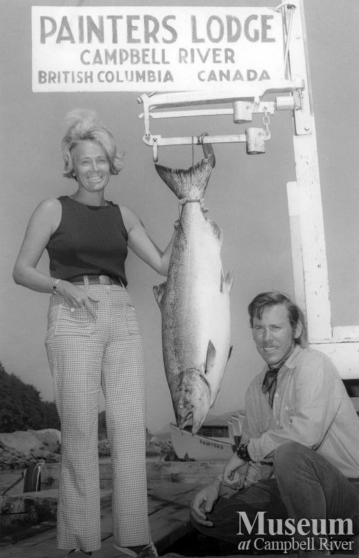 Sportfishing at Painter's Lodge, August 1971.