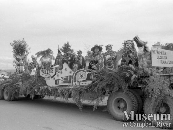 A first nations float in the Centennial Parade