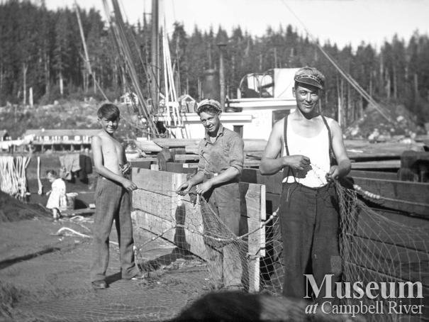 Working the lead lines at Bones Bay Cannery