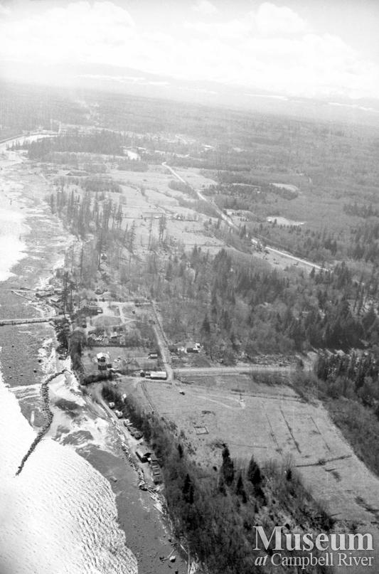 Aerial view of Campbell River