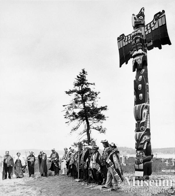 Raising Henderson Memorial Pole