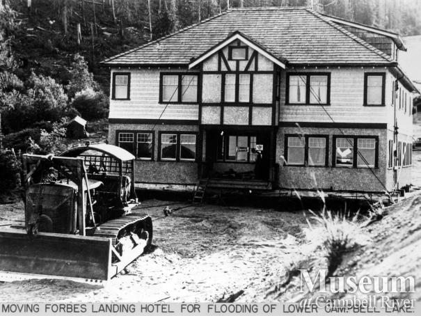 Moving the Forbes Landing Lodge, Lower Campbell Lake
