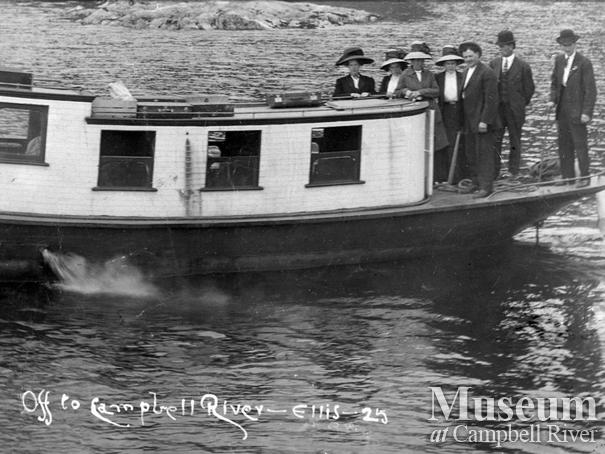 Campbell River residents on board the Thulin's boat