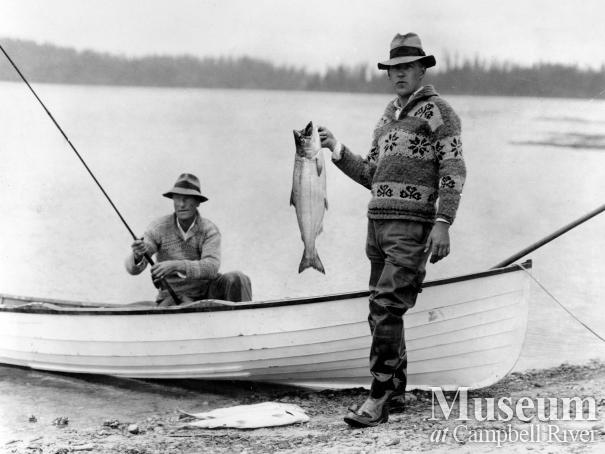 Reginald Pidcock and Mr. Fitzgerald fishing