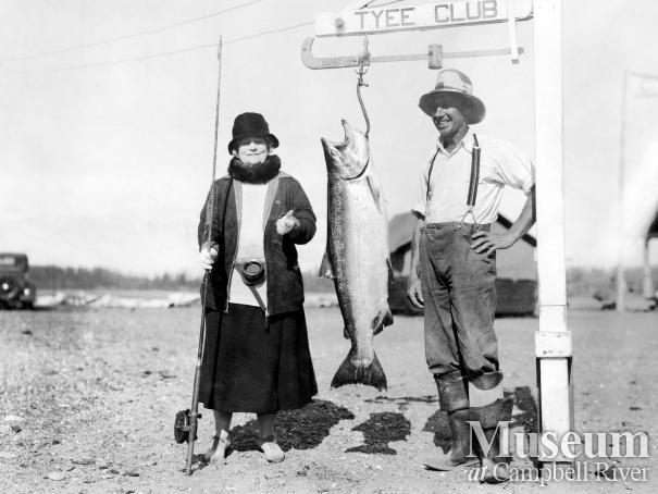 Herbert Pidcock with Mrs. Butler and Salmon