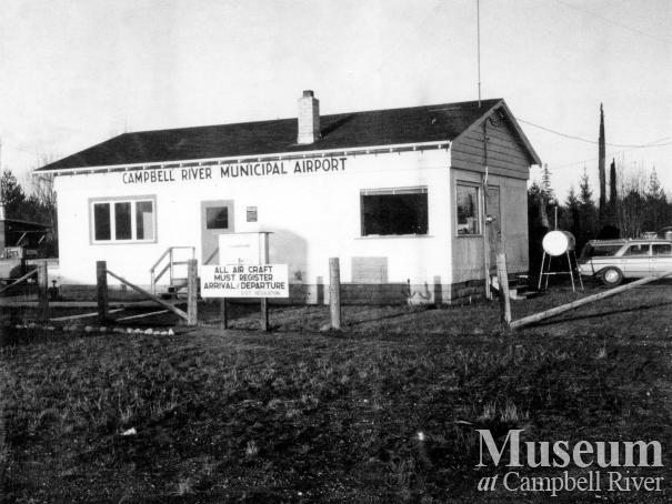 The old Campbell River Airport building