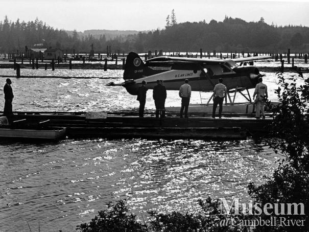 Float plane base at the Tyee Spit