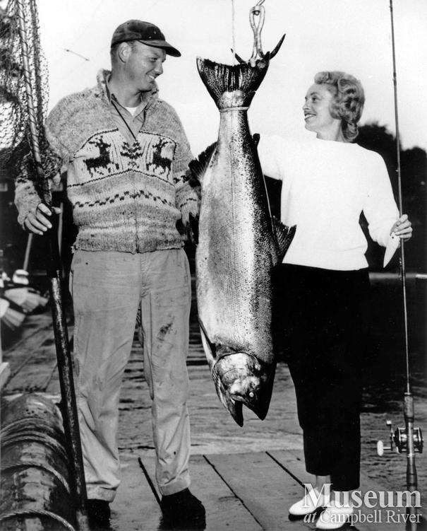 Maxine Egan with her catch