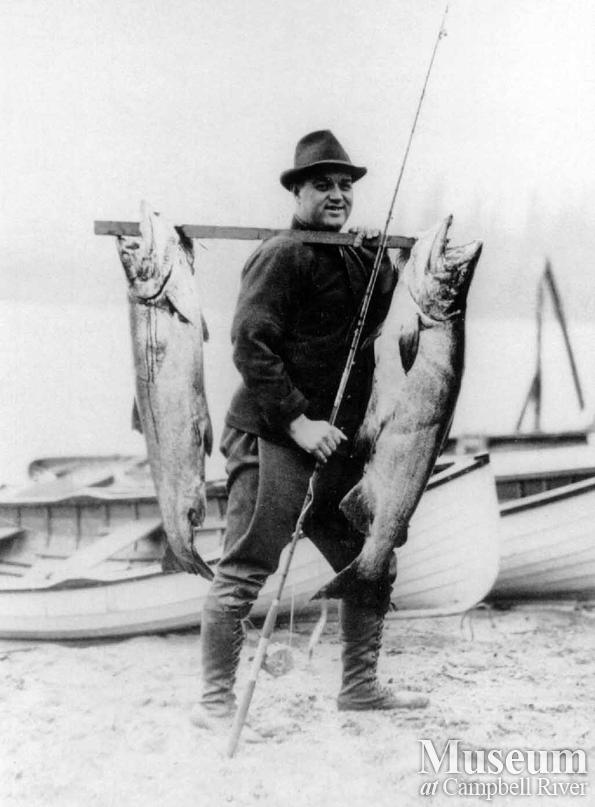 Dave McDonald with two fish