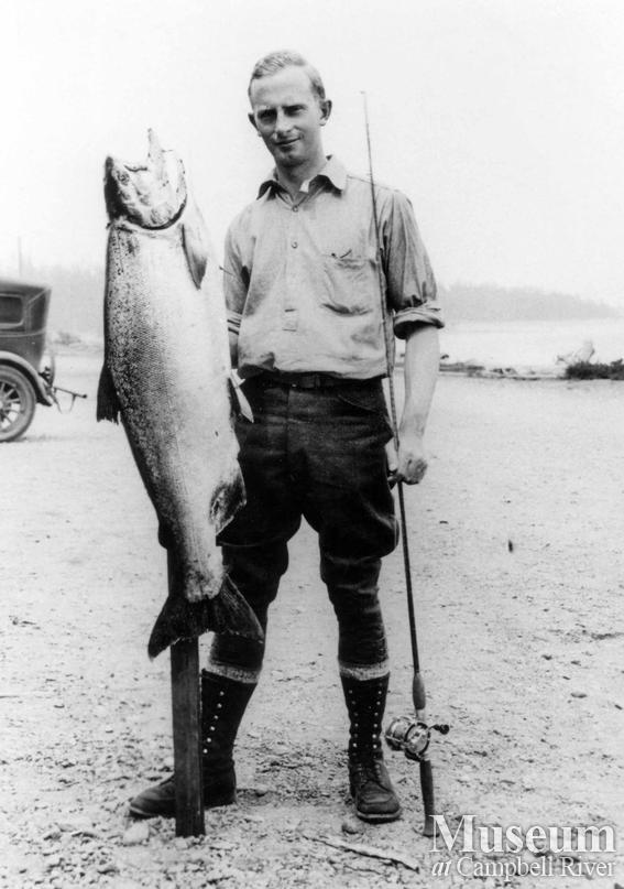 Unknown angler with fish