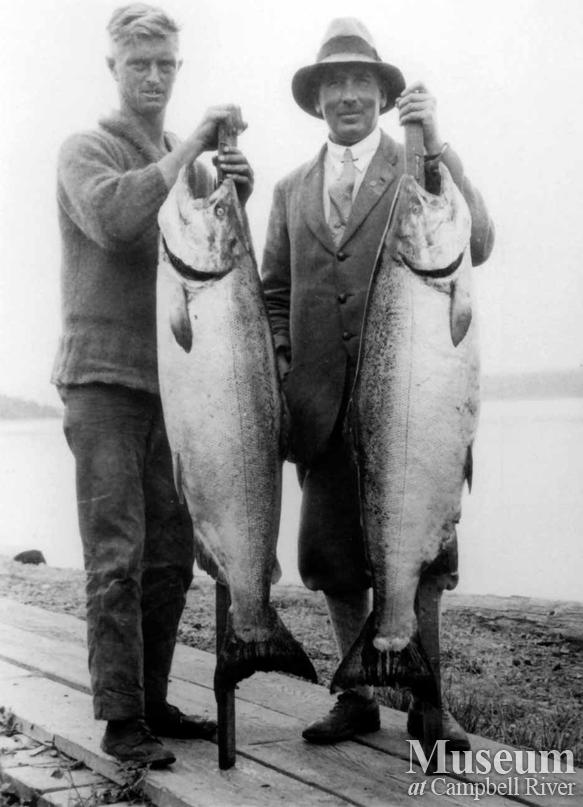Major C. Le Goldney with catch
